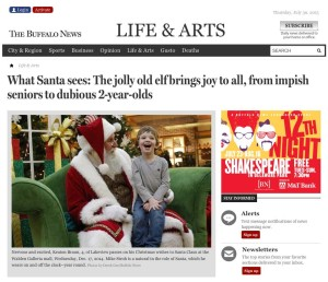 What Santa sees: The jolly old elf brings joy to all, from impish seniors to dubious 2-year-olds